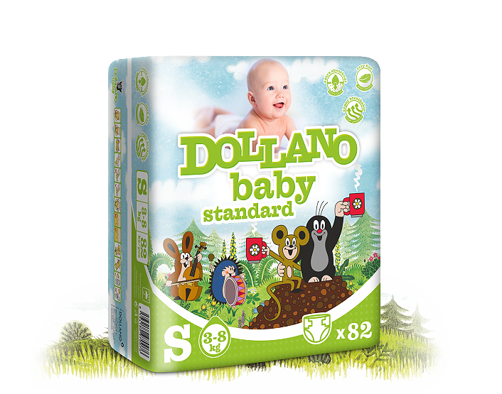 Dollano baby vel. S, 5 ks