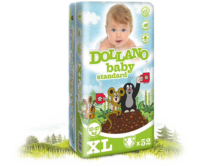 Dollano baby vel. XL, 5 ks