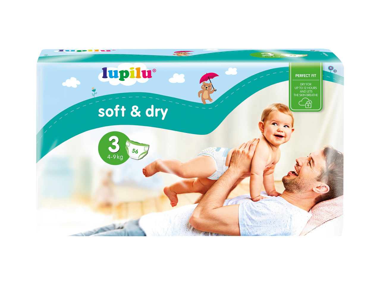 Lupilu soft and dry vel. 3, 5 ks