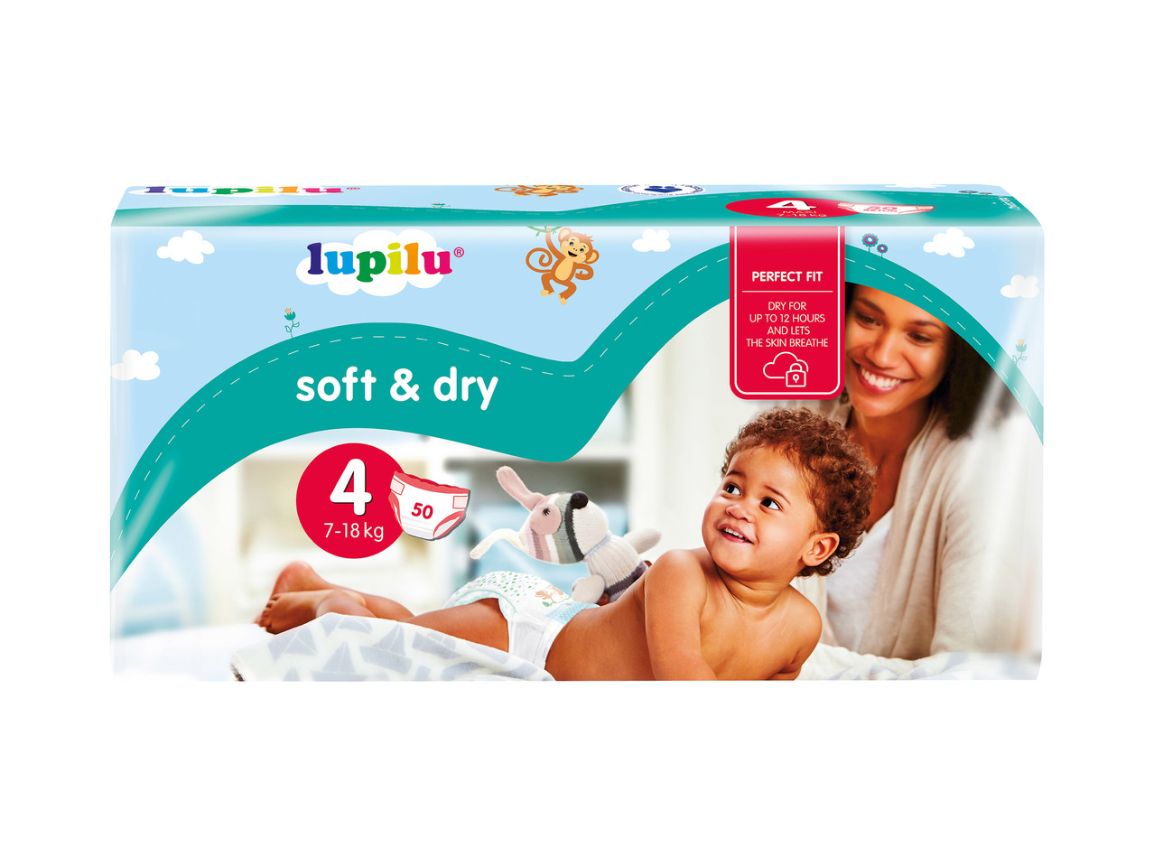 Lupilu soft and dry vel. 4, 5 ks
