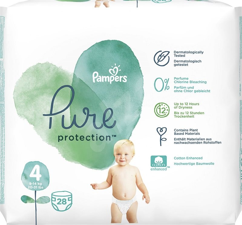 Pampers Pure, Velikost 4, 5 ks