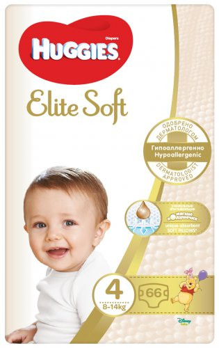 Huggies Elite Soft, vel. 4, 5 ks