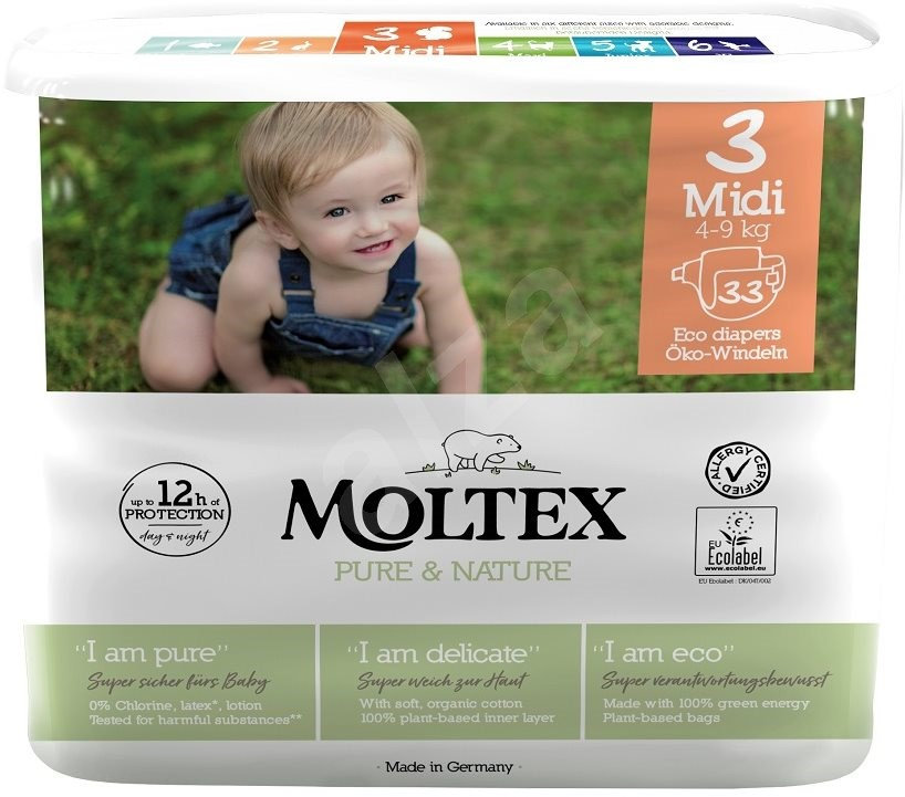 Moltex Pure & Nature Midi, vel. 3, 5ks