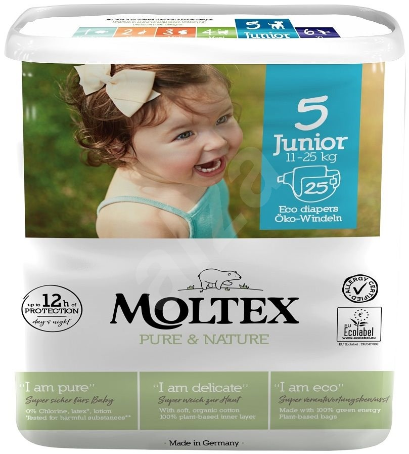 Moltex Pure & Nature Junior, vel. 5, 5ks