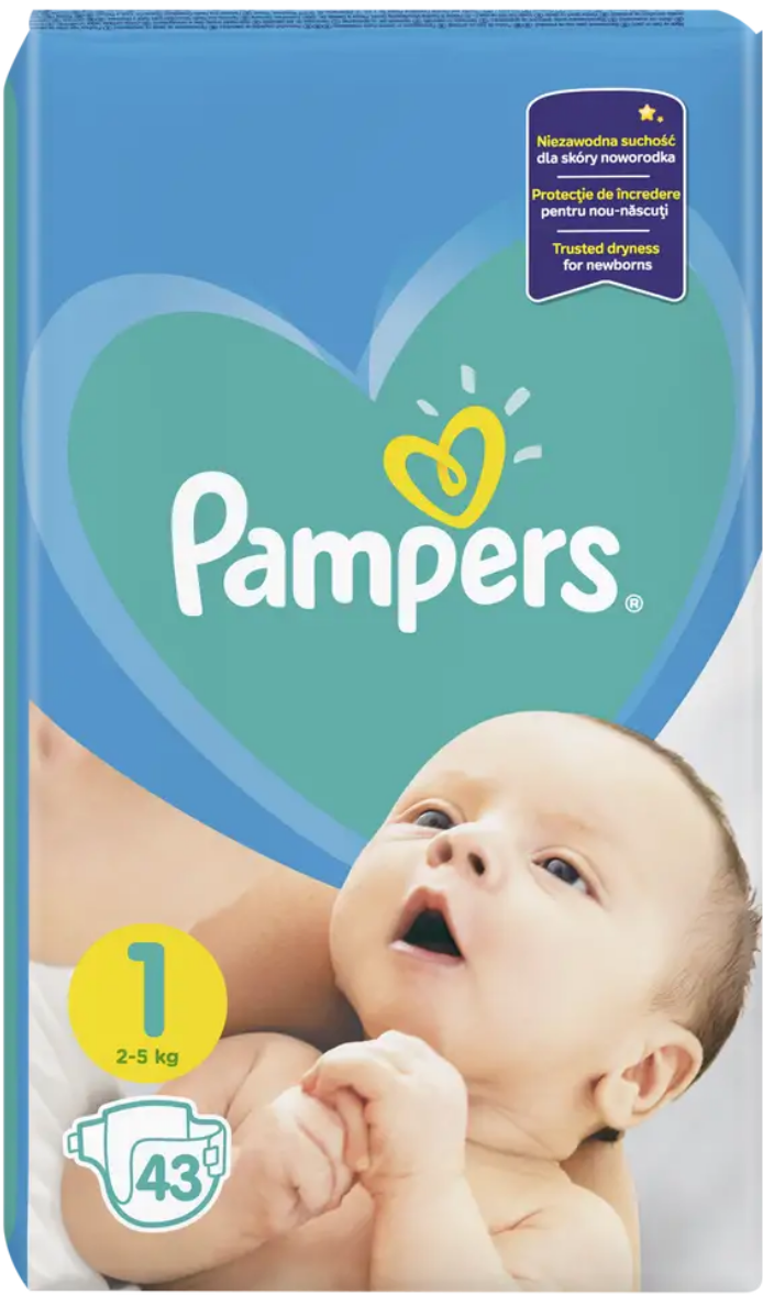 Pampers New Baby, 5 ks