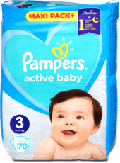 Pampers Active Baby  Velikost 3, 5 ks