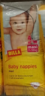 Billa Baby nappies, 5 ks
